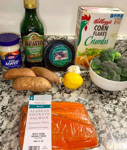 pesto salmon ingredients
