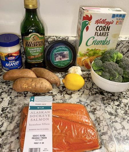 pesto salmon ingredients